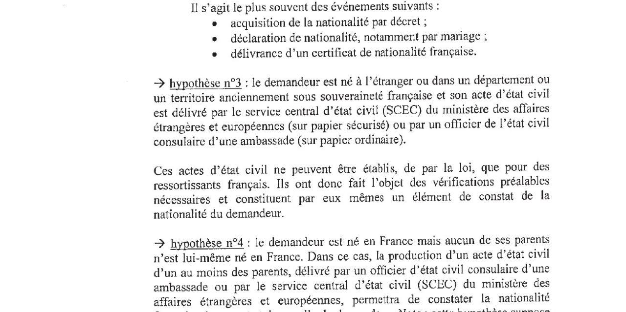 chapitre preuve de la nationalit franaise hypothse n3 ces actes ne peuvent tre tablies - Acte De Mariage Nante